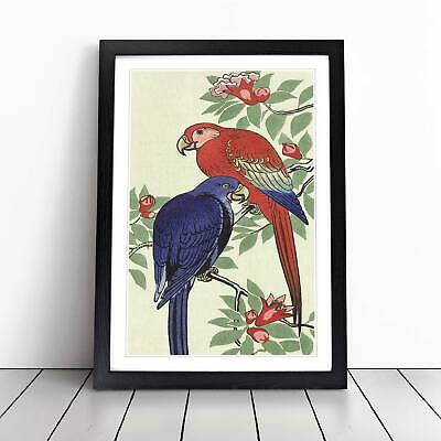 Parrots Flowers Floral Asian Bird Ohara Koson Wall Art Framed Picture Print