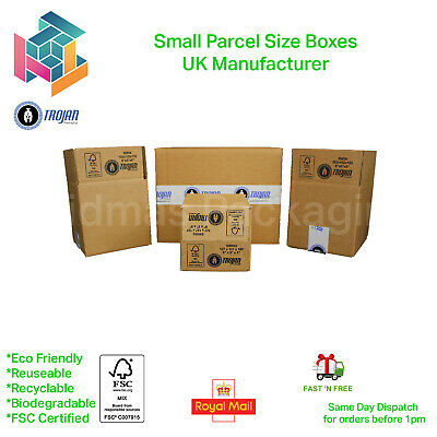Royal Mail Small Parcel Postal Mailing Cardboard Boxes - ALL SIZES