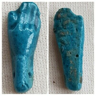 Ancient Egyptian Blue Faience 'Hand' amulet  Circa18th Dynasty 1550-1292 BC