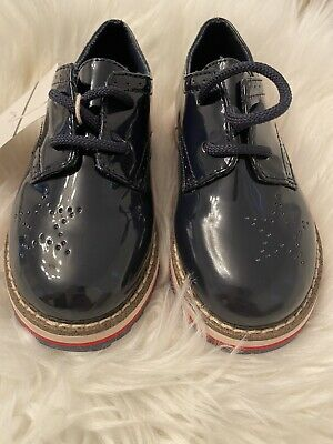 Toddlers Zara Baby Blue Patent Leather Shoes Size EUR 24 US 8
