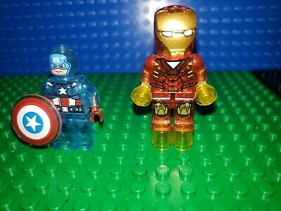 TRANSLUCENT Iron MAN Minifigures Fits Legos lot 77 Captain America Avengers