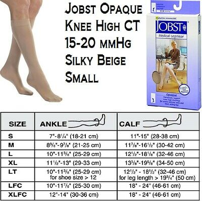 New Jobst Opaque 20-30 mmHg Knee Highs Natural Large CT Cat NO:115272