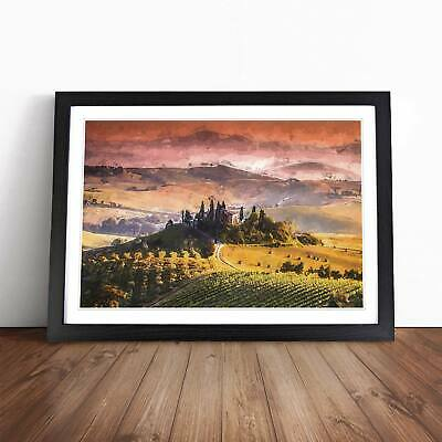 ART PRINT POSTER PHOTO LANDSCAPE TUSCANY COUNTRY HOUSE ITALY LFMP0533