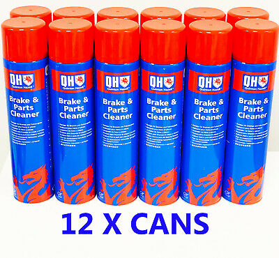 QH Brake Clutch & Parts Cleaner Dirt Grease & Dust Remover 600ml X 12 CANS