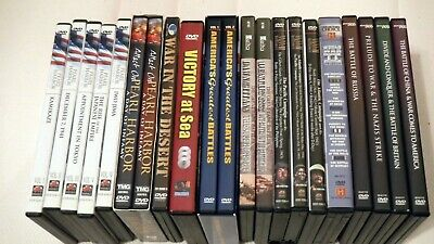 War documentary collection - large lot of 23 DVDs: WW2, Pearl Harbor, Gulf War +