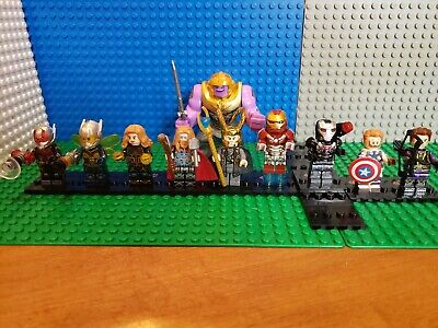 Iron Man AVENGERS Minifigures  lot  82 Marvel End Game Thanos Fit Legos