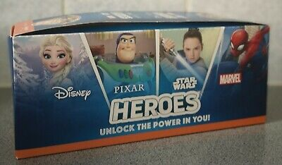 Sainsburys Heroes Cards full Box 180 Packs Disney Marvel 720 Cards, New.