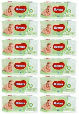 HUGGIES BABY WIPES NATURAL CARE 56ct (12 PACK)