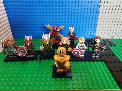 AVENGERS Minifigures lot  83 Marvel Thor Spiderman End Game Thanos Fit Legos