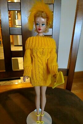Barbie Fashion Golden Yellow Sweater Dress Pure Mint!   +Extras  Xmas Special!