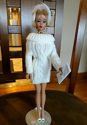 Barbie Fashion Ivory White Sweater Dress Pure Mint!   +Extras  Xmas Special!