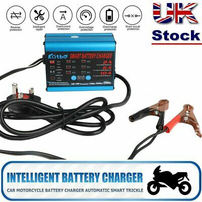 UK Automatic Intelligent Smart Battery Charger 12V 6V Cars Bike Vans 10A AMP New