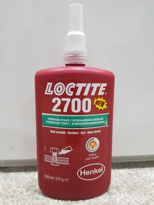 Loctite 2700 Threadlocking Adhesive - high strength. Permanent locking 250ml