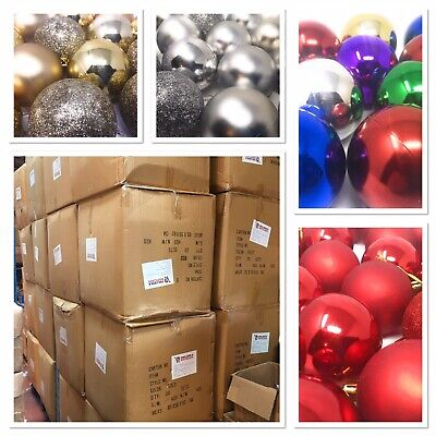 640x 40 Packs of Baubles, Christmas Wholesale, Joblot, Total RRP: £5760