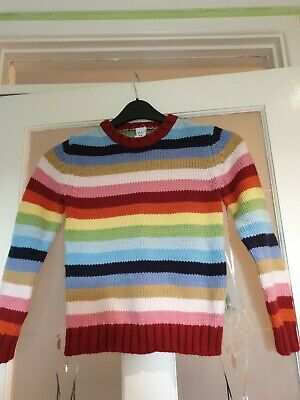 "Girls Or Boys Multi Coloured Long Sleeved  Wool BlendJumper By Gap Size 30""..."