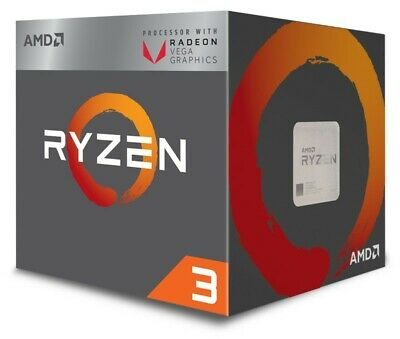 AMD Ryzen 3 2200G Socket AM4 3.5 GHz 14 nm Quad-Core CPU (YD2200C5FBBOX)