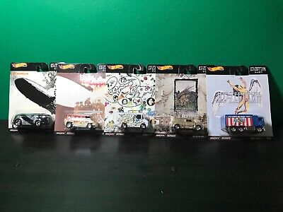 HOT WHEELS 2020 POP CULTURE LED - ZEPPELIN COMPLETE 5 CAR SET New In Hand VHTF!