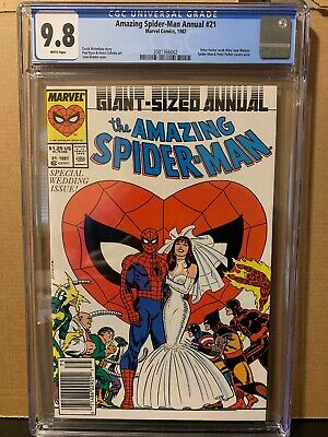 Amazing Spider-Man Annual 21 CGC 9.8 Marvel Comics 1987 White Pages