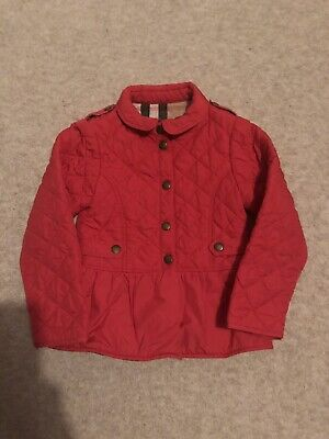 BURBERRY - Girls quilted Jacket Age 4 in Raspberry pink