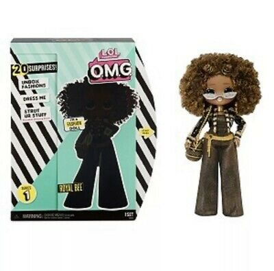 """LOL Surprise OMG Royal Bee 10"""" Doll Royal Bee Winter Disco Holiday *Queen's Sis"""