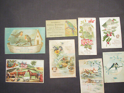Victorian era lot 8 diff trade/advertising cards of sewing machine makers excond
