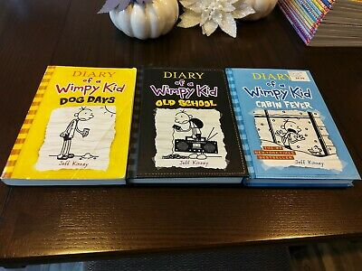 Jeff Kinney Diary Of A Whimpy Kid Books Old School Cabin Fever Dog Days Used New