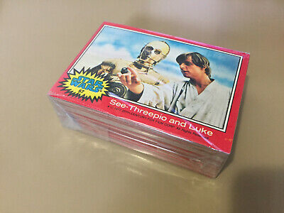 Star Wars - Series 2 (RED) - Complete 66 Trading Card Set - Topps 1977 - NM