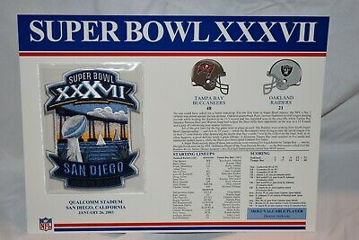 Super Bowl 37 Tampa Bay Buccaneers Vs Oakland Raiders 2003 Nfl Patch & Card