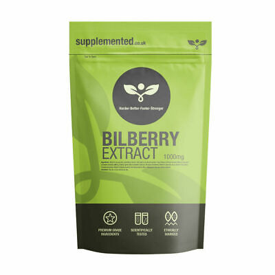 BILBERRY EXTRACT 1000mg CAPSULES, Eye care, ?UK Made ?Letterbox Friendly
