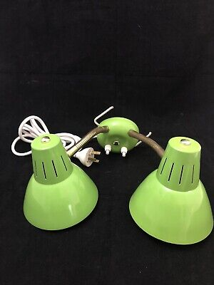 Vintage Jetage shelf lamp. Duel lamp in super retro colour. Working condition.