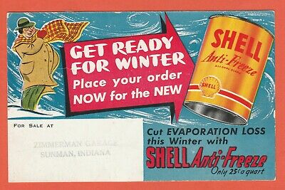 US Postcard Shell Anti-Freeze Get Ready for Winter Advertising Card Unused