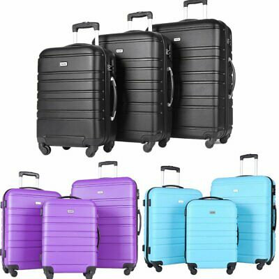 3PCS Lightweight Luggage Set Hardshell Suitcase Spinner Trolley 38L 60L 93L