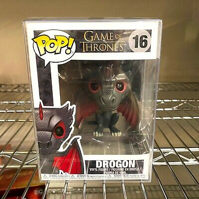 "Funko Pop Game of Thrones : Drogon #16 Vinyl w/0.5mm Case ""MINT"""