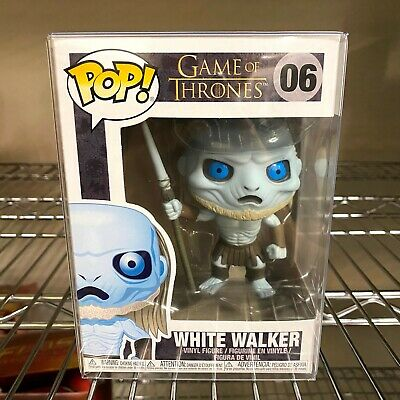 "Funko Pop Game of Thrones : White Walker #06 Vinyl w/0.5mm Case ""MINT"""