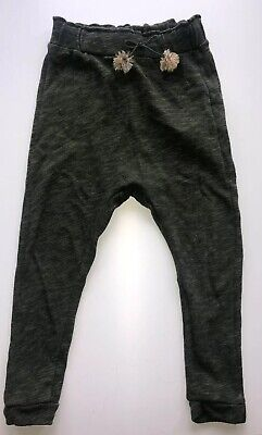 Zara Girls Hareem Soft Comfortable Trousers Khaki Green Age 7