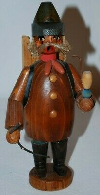 ERZGEBIRGE GERMAN Vintage Wooden Incense Smoker Hiker Wood Peddler 7.5""