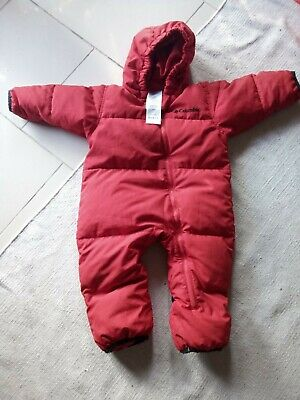 Columbia  Baby Snowsuit down insulated filled v warm | Mountain Red 18 Months