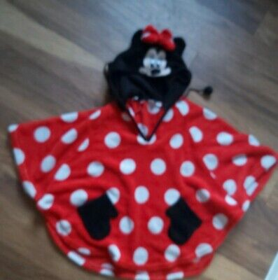 Mickey Mouse Hooded Poncho Beach Swim Pool Towel One Size