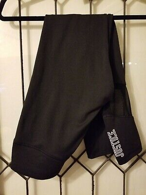 Justice Active Wear Black Logo  Leggings Size 16