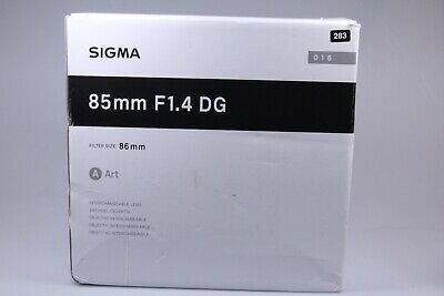 Sigma 85mm f/1.4 DG HSM Art Lens with Canon Mount. 283