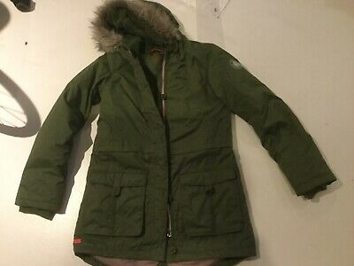 Girls green parka coat jacket REGATTA size 34, age 12-13-14 ish IMMACULATE