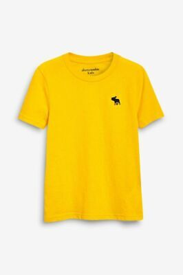 Abercrombie & Fitch Boys Yellow Short Sleeve T-shirt Top Age 15-16 Years BNWT