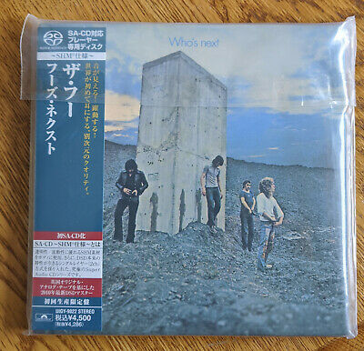The Who - Who's Next SHM-SACD Mini LP Japan Import UIGY-9022 OOP Brand New!!