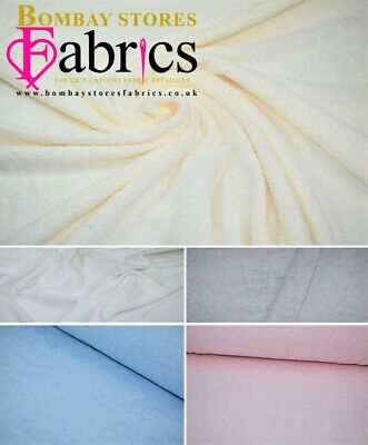"Plain Towelling Cotton Soft Double Sided Beach Bath Towel Craft Fabric 60/"" 5 Col"