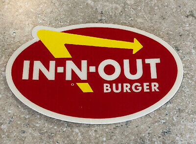 FOR YOUR CAR OR TRUCK IN-N-OUT BURGER VINTAGE BUMPER STICKER WEATHER-PROOF