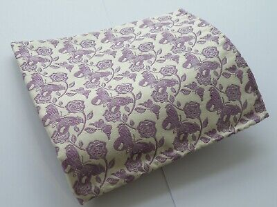New Duchamp Of London Floral Silk Pocket Square Pochette Made In England