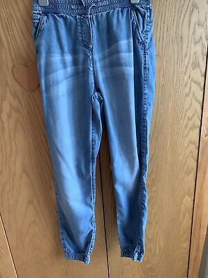 Girls Denim Style Trousers, Age 11