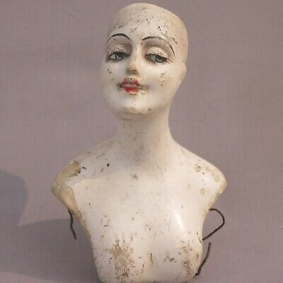 Antique 1920s wax art deco half doll of approximately 12cm