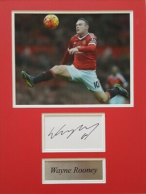 WAYNE ROONEY Signed 16x12 Photo Display MANCHESTER UTD & ENGLAND COA