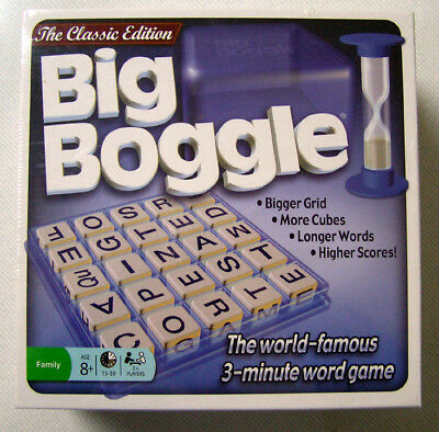 Classic Edition BIG BOGGLE Words Letters Family Friends Fun Game - New & Sealed